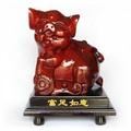 新款現貨T木雕豬 紅木工藝品 木雕豬擺件 富足如意豬 可愛豬 生日禮物