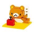 =優生活=日本積木 拉拉熊 懶懶熊積木 拼裝積木 樂高 顆粒鑽石積木 口袋積木 親子玩具