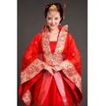 古装唐朝拖尾中式新娘婚禮禮服(本禮服出售/出租均可)