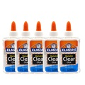 [ Elmer's ] Elmers Clear Glue 5oz, Set of 5 for Slime Making