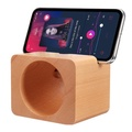 Wooden Natural Sound Amplifier Desktop Phone Holder Stand for iPhone Xiaomi Mobile Phone