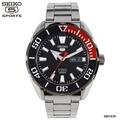 SEIKO SPORTS 5 Automatic นาฬิกาข้อมือผู้ชาย สายสแตนเลส รุ่น SRPC57K1 สีCOKE ดำแดง
