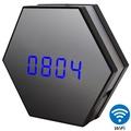 【CHICHIAU】WIFI無線網路高清1080P夜燈電子鐘-針孔微型夜視攝影機+影音記錄