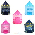 5 Colors Play Tent Portable Foldable Tipi Prince Folding Tent Children Boy Castle Cubby Play House Kids Gifts Outdoor Toy Tents