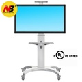 North Bayou Mobile TV Cart TV Stand with Wheels for 32-65 Inch LCD LED OLED Plasma Flat Panel Screens up to 80lbs Aluminum (white)