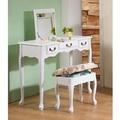 代購免運/英倫風掀鏡化妝書桌椅組(90cm寬,坐椅可收納) 限宅配