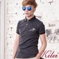 【Kilei】點點潮流POLO衫XA1453(波點黑)賠售特價