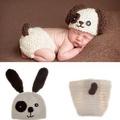 小狗 寶寶 嬰兒 攝影 二件 套裝 造型服