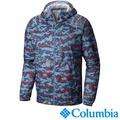 【Columbia哥倫比亞】防潑水迷彩風衣外套-藍色 UKE39740UC