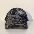 墨達人 - 豹面赤青波紋帽 (黑)