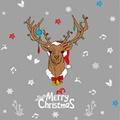 經典北歐鹿頭 聖誕麋鹿 XL827創意可重覆貼壁貼 玻璃櫥窗裝飾 室內 節日佈置【YV4494-1】BO雜貨