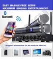 Karaoke Wireless UHF Microphone Receiver Mixer System Supports Popsical Use