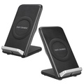 Qi Wireless Fast Charger Stand Holder Pad Fan For Samsung Galaxy S8/S8 Plus