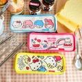 正版Hello Kitty 三件式不鏽鋼餐具組 湯匙 叉子 筷子 304不鏽鋼 餐具 環保 三麗鷗 凱蒂貓【B063093】