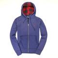美國百分百【全新真品】Ralph Lauren 外套 RL 連帽外套 夾克 Polo 小馬 藍 大尺 格紋 男 M L XL B584