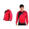 【MIZUNO】男長袖T恤-路跑 慢跑 運動T恤 美津濃 NXT系列 紅黑
