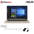 "ASUS VivoBook S15 (S510UN-BQ422TS) - 15.6""/I78550/DDR4 4GB/128SSD+1TB/NVDIA MX150/Windows 10(Gold)"