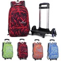 25L Kids Children Wheels Travel Trolley Luggage Backpack Student School Bag
