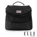 ELLE 法式精品休閒立體圓筒大容量IPAD側背包-黑 EL82350