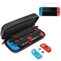 Nintendo Switch Game Carry Case, Gamepal for Nintendo Switch Case Black Travel Case with Nintendo Switch Screen protector for Nintendo Switch Accessories