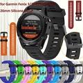 26mm Width Watch Strap for Garmin Fenix 3 Band Outdoor Sport Silicone Watchband for Garmin Fenix 3HR/Fenix 5X with tools