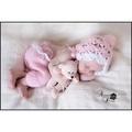 寶寶造型服~粉女寶手工針織 帽+褲☆║團拍║攝影║嬰兒寫真║☆