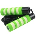 Jump Rope Skipping Rope Jumping Rope Jump Ropes Jumpropes for Adults Fitness Rope Skipping Fitness Ropes Fitness Weighted Jump Rope Crossfit Jump Rope Workout Jumping Rope for Women (Green + White)