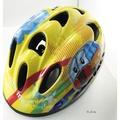 [瘋拜客]GIANT 兒童安全帽含調節器護具組(護肘+護膝)-黃色 52-56公分 頭圍可以調整
