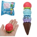 4Pcs Puni Maru Rare Stack Octopus Ice Cream Squishy With Magnet 4CM Slow Rising With Packaging