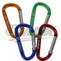 omax多用途鋁合金D型扣環-12入(顏色隨機出貨)
