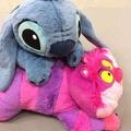 東京迪士尼 笑笑貓、史迪奇 抱枕 娃娃