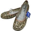 日本進口雨鞋◇娃娃鞋造型◇《棕色豹紋圖案》抗菌防水