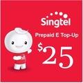 Singtel Prepaid eTopUp SGD25