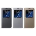 SAMSUNG GALAXY S7 Edge S View 原廠透視感應皮套 (盒裝)