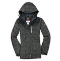美國百分百【全新真品】Columbia 外套 哥倫比亞 夾克 連帽 墨綠 格紋 發熱衣 Omni 兩件式 女 M號 A835