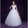 新款新娘齊地顯瘦收腰抹胸婚紗禮服(本禮服出售/出租均可)