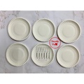 叉盤組 盤叉組 6叉子+6盤子每包 蛋糕盤 小盤子 叉子 派對盤 生日 免洗盤 塑膠盤叉 小叉子 生日蛋糕盤