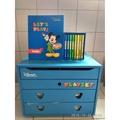 寰宇迪士尼美語 2012 Let's Play 米奇魔幻遊戲組8DVD+導覽手冊+部份教具+大木箱 家庭 Disney