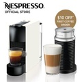 Essenza Mini Coffee Machine (White) & Aeroccino Milk Frother Bundle