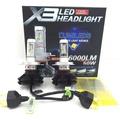 X3 LED 大燈 6000lm X3 LED大燈 汽機車 通用 H4 H7 H11