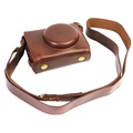 Bottom opening Camera Case for Canon G7X II. Retro PU LeatherCamera Bag for Canon powershot G7XII / G7X MarkII(Coffee)