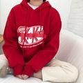 【現貨出清】韓國翻玩KitKat連帽T 內刷毛 KitKat 長袖帽T