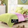 【韋恩寢具】點點風柔絲絨被套床包組-雙人