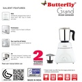Butterfly Grand 550-Watt Blender Mixer Grinder ( 2 Years Warranty )