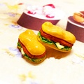 10 PCS Resin Flat Back Cabochon Kawaii Hamburger DIY Craft Decoration Mini For iPhone Xiaomi