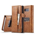 Caseme Vintage Wallet Card Slots PU Leather Case For Samsung Galaxy S8/S8 Plus