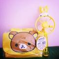 2合1拉拉熊側背包,化妝包,零錢包+韓國版兔兔電風扇,兔兔手吹泡泡玩具,兔子