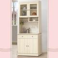 凱曼 舞戀2.7尺二抽餐櫃收納櫃(上+下座)-淺白橡色
