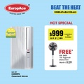 *FREE FAN WORTH $129* EuropAce Air Conditioner 8000BTU - EAC 397 4 in 1 Casement Aircon