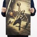 懷舊復古經典牛皮紙海報壁貼咖啡館裝飾畫仿舊掛畫●籃球NBA美國職籃系列-Kobe Bryant柯比·布萊恩B款